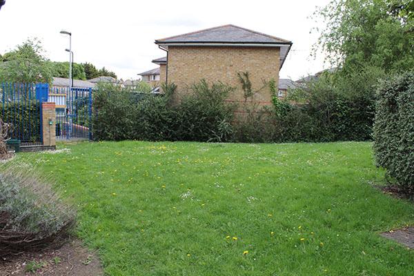 Ouside Myddelton Grange Community Centre