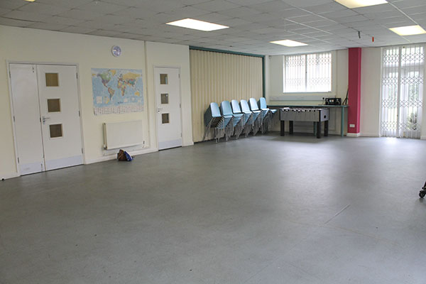 Inside the Community Hall